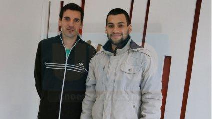 <p>Alejandro Centurión y Gonzalo Silveyra, integrante del Apostolado Madre Teresa. </p><p></p>