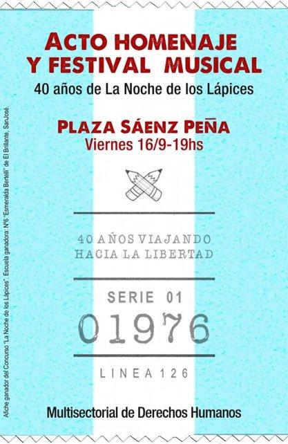 """Primer Premio del concurso de afiches de la Subsecretaría de Derechos Humanos. Escuela Nº 6 """"Esmeralda Bertelli"""", El Brillante, San José."""