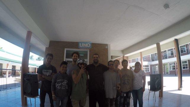 En la escuela Tabaré incluyeron al rap porque reconocieron que es una herramienta para los estudiantes.
