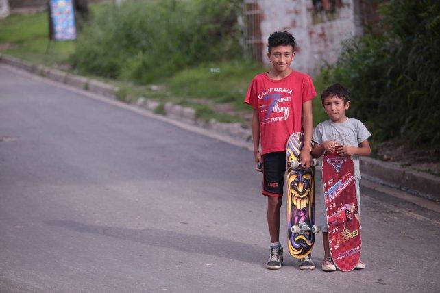 Los hermanos Álvarez viven en Bajada Grande. Foto <b>UNO</b>. Juan Ignacio Pereira.