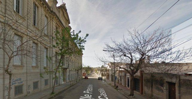 Una imagen del frente de la escuela antes del choque. Foto Google.