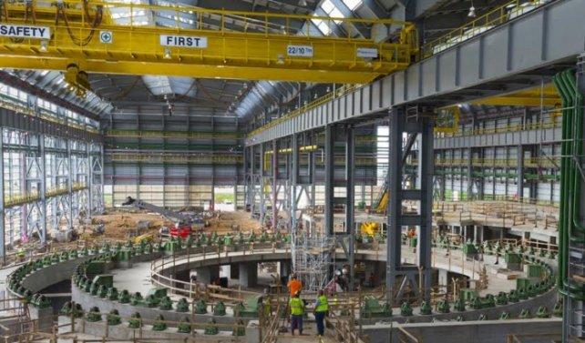 La Planta que posee la empresa argentina Tenaris en Bay City, Texas.