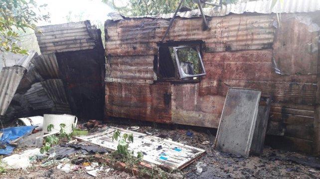 Las casillas se incendian por los precarios medios de calefacción.