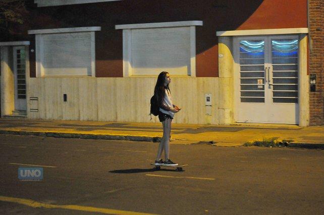 Cande en calle Laprida. Foto <b>UNO</b> Juan Manuel Hernández.