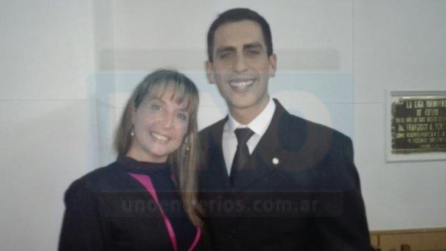 Miriam Trapp, la primera mujer en estar en una lista de méritos de la LPF. Ricargo Gómez, el uno en la lista que anunció el ente regulador.