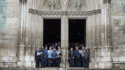 <div><div>El coro de la catedral de Ratisbona durante un ensayo en 2014&amp;nbsp;</div><div><br></div></div>