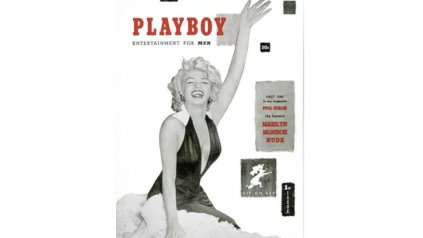 <div>La primera portada de Playboy, en diciembre de 1953, con Marylin Monroe&amp;nbsp;</div><div><div></div></div>